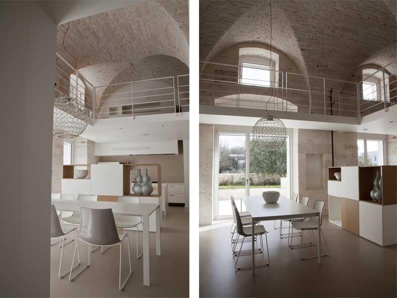 Architetti fasanesi trasformano un vecchio magazzino in un for Interni case moderne foto