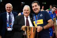 Giuseppe Manfredi, presidente nazionale della Federazione italiana pallavolo e Ferdinando De Giorgi, allenatore della nazionale italiana di pallavolo