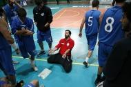 Coach Ciccio Colucci durante un time out (foto Chicco Saponaro)