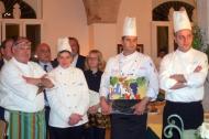 Il vincitore Salame Hussein con altri chef partecipanti