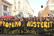 Una foto delle manifestazioni a Roma degli scorsi giorni
