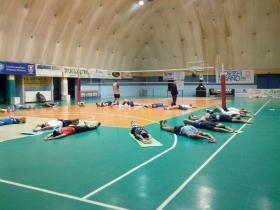 Un allenamento della squadra maschile
