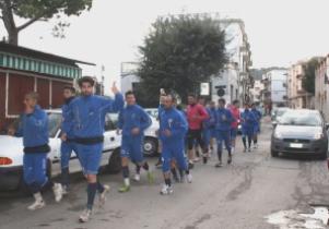 L'allenamento del Fasano nelle strade cittadine