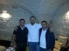 Il tecnico Francesco Ancona con Piero e Alberto Nistri, titolari del bar