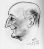 """Luigi Amati in una caricatura di """"Bepi""""."""